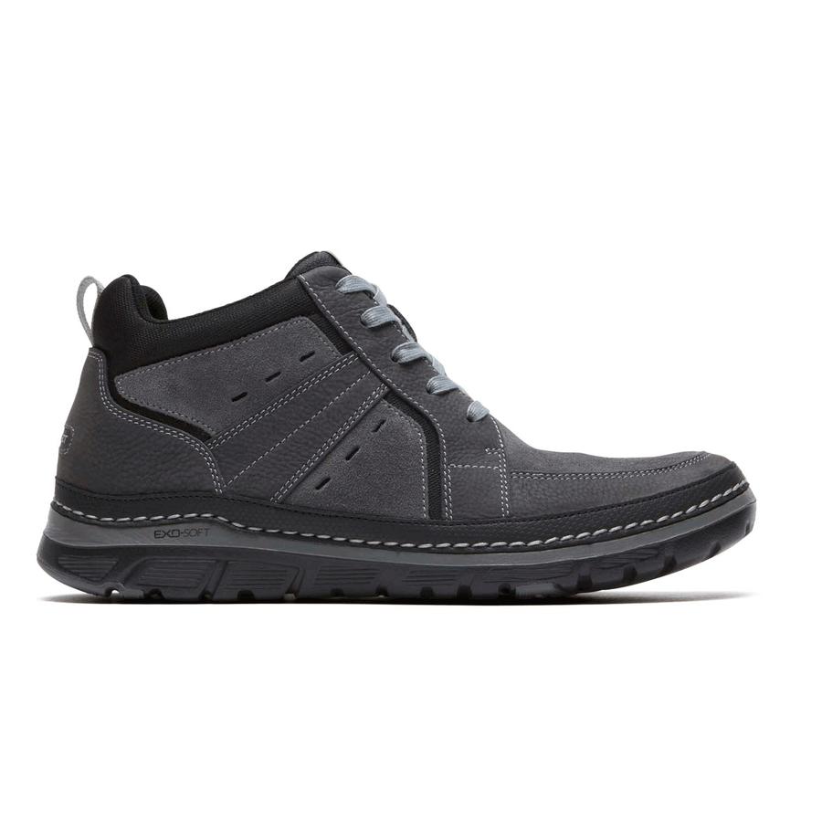 Rockport ActiveFlex RocSports Lite Mens Leather Boots (Grey)